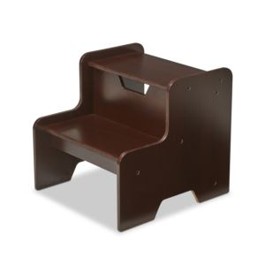 Wooden Step Stool Espresso - Ages 3+ Years