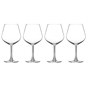 4 Piece Burgundy Glass Set
