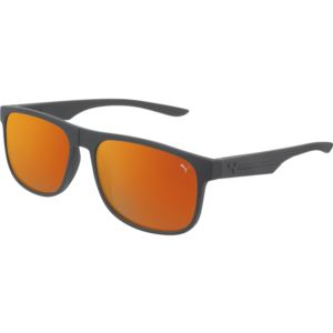 Men's Rubberized Sunglass - Grey/Orange