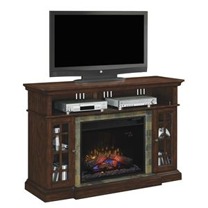 "Lakeland Media Mantel-Roasted Cherry and 28""Infrared Firebox"