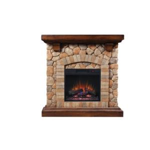 Stone Fireplace Classicflame Mantel/Insert Combo