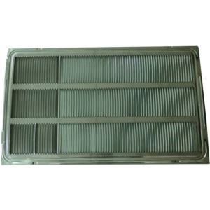 Stamped Aluminum Rear Grille for 26-inch Wall Sleeve
