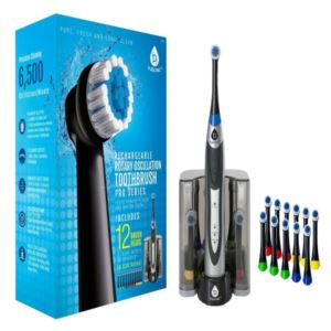 Rechargeable Rotary Toothbrush with Bonus Brush Heads - (12 Heads)