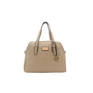 Nina Quited Dome Handbag - (Almond)
