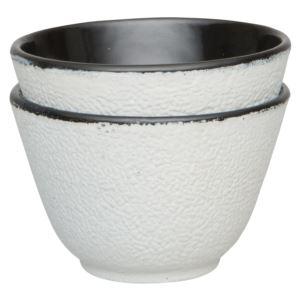 Studio Cast iron Tea Cup White (2x)