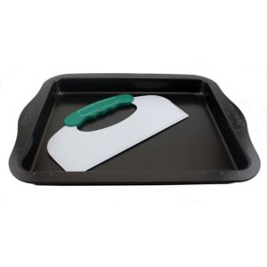 Perfect Slice Cookie sheet w/ tool