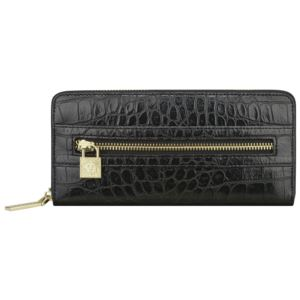 Alligator Alley Zip Around Wallet - Black