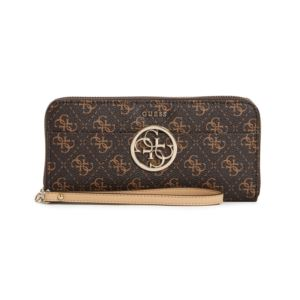 Kamryn Large Zip Around Wallet - Brown