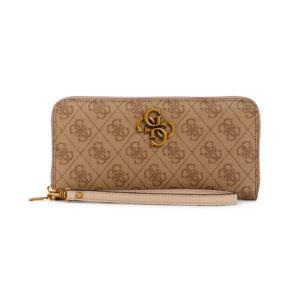 Noelle Large Zip Around Wallet - Latte