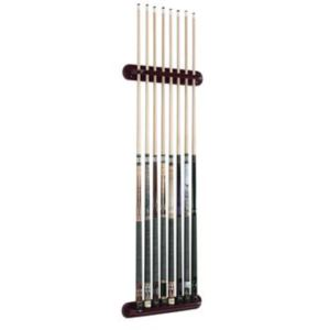 Viper Traditional Mahogany 8 Cue Wall Cue Rack