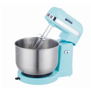 5-Speed Stand Mixer With 3.5 Quart Stainless Steel Mixing Bowl - (Blue)