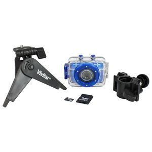 5.1 Mega Pixel Sports Action Digital Video Camera Kit Blue