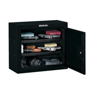 Pistol/Ammo Steel Security Cabinet in Black