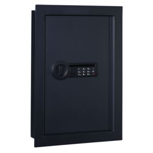 Wall Safe with Electronic Lock in Matte Black
