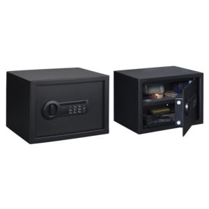 Personal Safe with Electronic Lock in Black