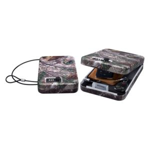 Portable Security Case with Combo Lock and Realtree Xtra Camouflage