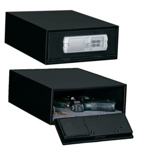 Low Profile Quick Access Safe with Electronic Lock Black