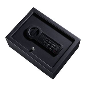 Strong Box Drawer Safe with Electronic Lock in Black