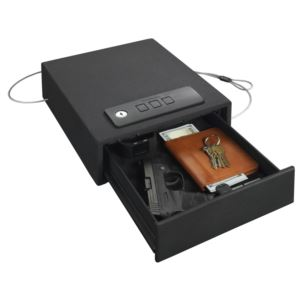 Quick Access Auto-Open Drawer Safe - Electronic Lock - Black