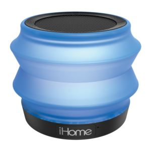 Collapsible Bluetooth Rechargeable Speaker Translucent Blue