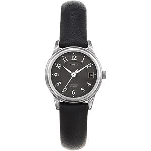 Women's Elevated Classics Dress Black Leather Strap Watch
