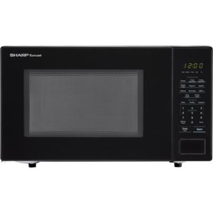 Carousel 1.1 Cu. Ft. 1000W Countertop Microwave Oven in Black (ISTA 6 Packaging)