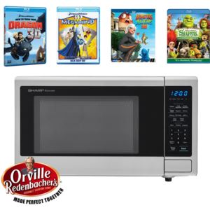 Movie Night with Orville Redenbacher's Certified 1.1 cu. ft. Carousel Microwave Oven and 4 Blu-ray 3