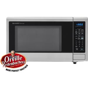 Carousel 1.4 Cu. Ft. 1000W Countertop Microwave Oven with Orville Redenbacher's Popcorn Preset (ISTA