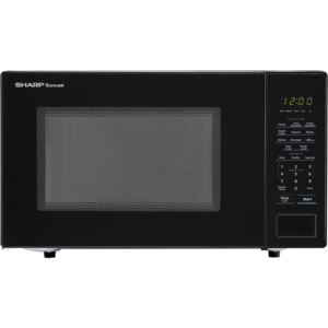 Carousel 1.1 Cu. Ft. 1000W Countertop Microwave Oven in Black