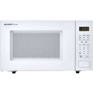 Carousel 1.1 Cu. Ft. 1000W Countertop Microwave Oven in White