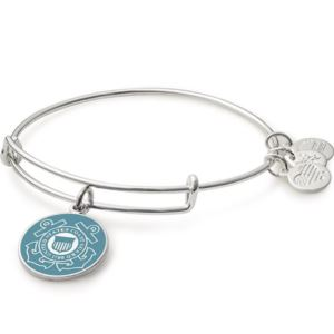 U.S. Coast Guard Bangle - (Shiny Silver Finish)