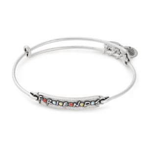 Friends Logo Bar Bangle - (Rafaelian Silver Finish)