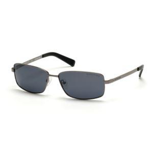 Polarized Kenneth Cole New York Mens Sport Sunglasses - Gunmetal/Smoke