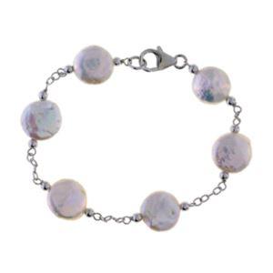 White Coin Pearl Bracelet