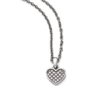 Cz Heart Pendant