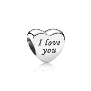 Words Of Love Engraced Heart Charm