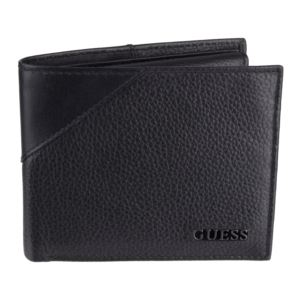 Men's Leather Passcase Bifold Wallet- Black