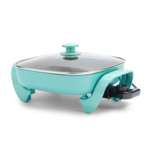 Healthy Power Electric Nonstick Skillet Turquoise