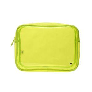 Miami Jumbo Zip Cosmetic - Neon Yellow