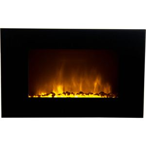 Oslo Wall-Mounted LED Fireplace with Color-Changing Flame Effect and Remote Control