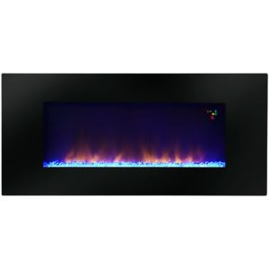 """Amazon 48"""" Widescreen Wall-Mounted LED Fireplace with Customized Flame Patterns and Remote Control"""