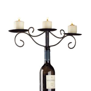 Antique Wine Bottle Candelabra