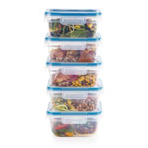 Total Solutions 10pc Plastic Square Container Set