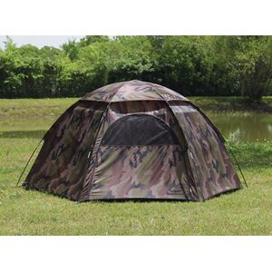 Camouflage 3-Person Hexagon Dome Tent
