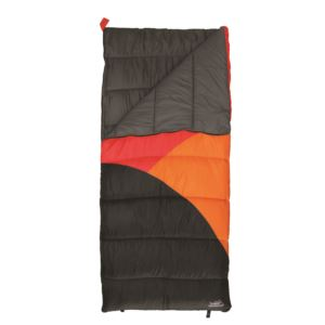 Wild Basin Waterproof Sleeping Bag Orange/Black