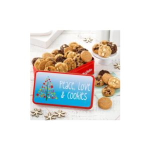 "Peace Love Cookies Tin,"" 60 Nibbler"