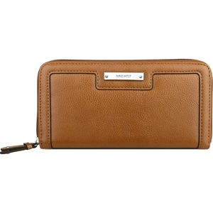 Table Treasures Small Zip Around Wallet - Cognac