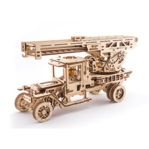 UGears Truck with Fire Ladder