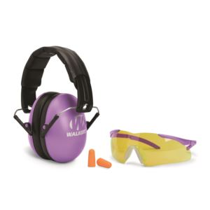 Youth & Women Folding Purple Muff/Glasses/Plug Combo