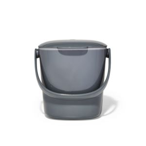 Easy-Clean Compost Bin Charcoal